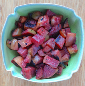 Sautéed Watermelon Radishes Bowl by Silvie Granatelli