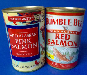Canned salmon is easy to buy and store