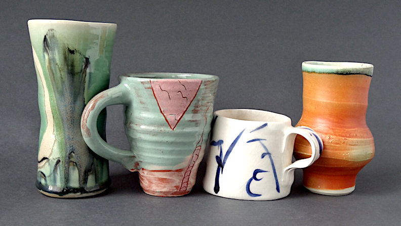 cups by Josh DeWeese, Liz Rudey, Lynn Croton and Gay Smith