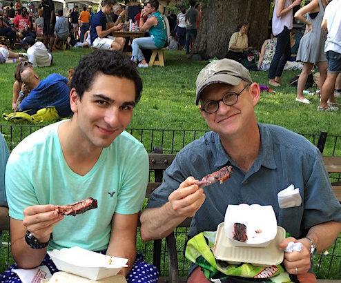 Happy rib eaters