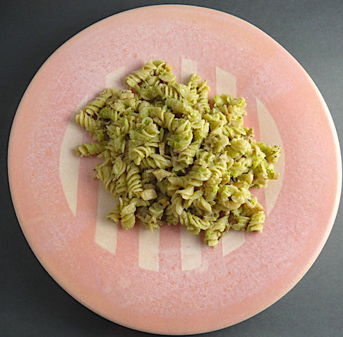 Quinoa and Brown Rice Pasta with Garlic Scape Pesto Plate by Lyn Evans