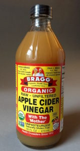 Use unpasteurized apple cider vinegar