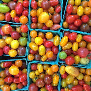Cherry tomatoes at the farmer's market