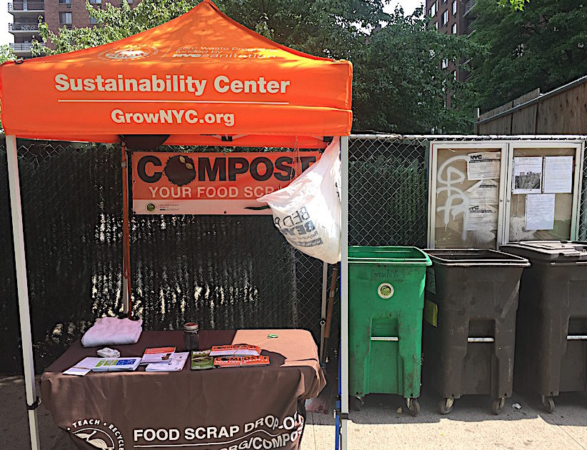 Composting location at 97th Street Market