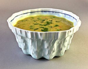 Curried Lentil Soup Porcelain bowl by Andy Brayman