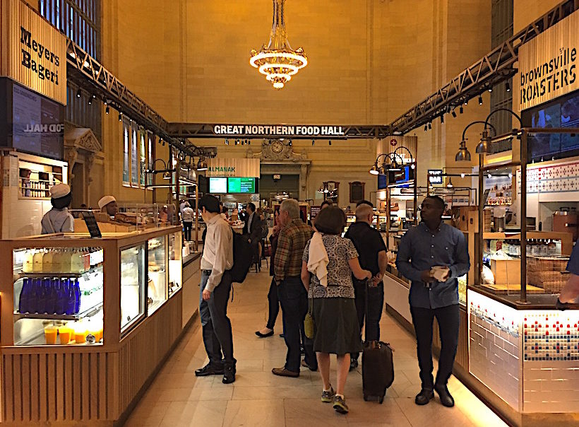 Great Northern Food Hall in the western half of Vanderbilt Hall at Grand Central Station