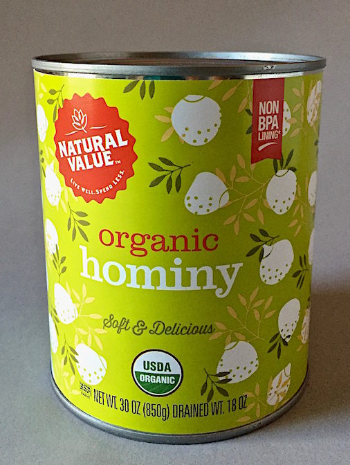 Organic hominy is now available
