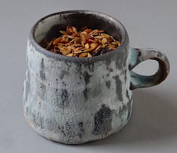 Homemade Granola Wood fired Porcelain Mug by Perry Haas