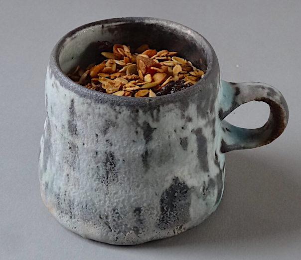 Homemade Granola Wood fired Porcelain Mug by Perry Haas