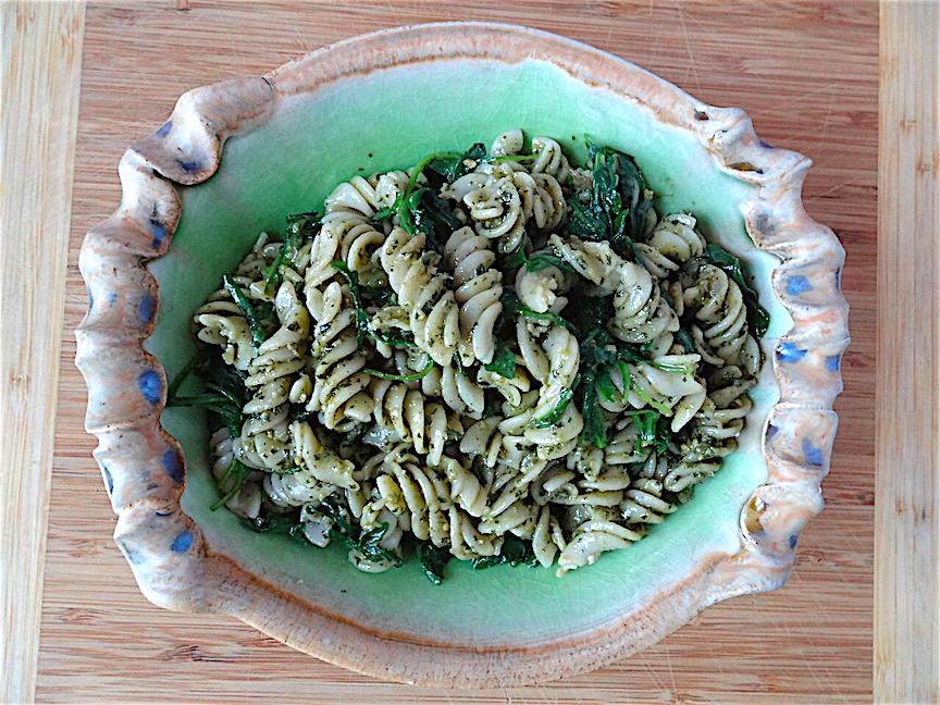 Rice pasta salad with pesto and arugula Bowl by Silvie Granatelli