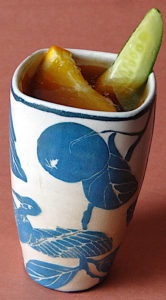 Pimm's Cup in a tumbler by Julia Galloway