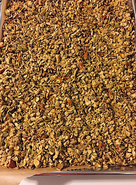 Sheet Pan of baked Granola