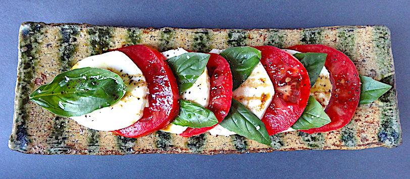 Traditional Caprese Salad Plate by Bandana Pottery - Michael Hunt and Naomi Dalglish