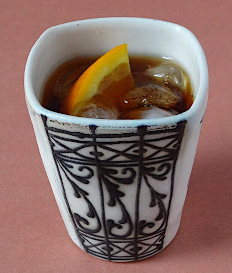 Sweet Vermouth on the rocks tumbler by Julia Galloway